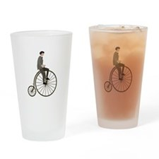 Vintage Cycle Drinking Glass
