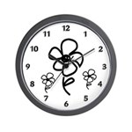 Flower Doodles Wall Clock