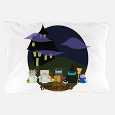 The Aviator Owl Haunted House Pillow Case