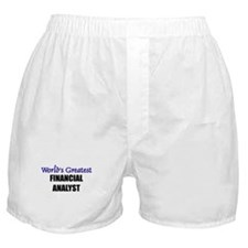 Worlds Greatest FINANCIAL ANALYST Boxer Shorts