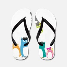 Unique Zipper Flip Flops