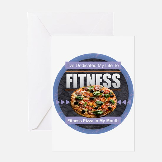 Fitness - Pizza Greeting Cards