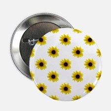"Pretty Yellow Sunflower Pattern 2.25"" Button"