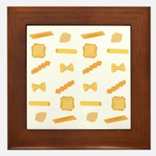 Noodle Shapes Framed Tile