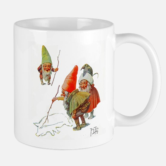 Gnomes Search for Pig in the Snow Mug