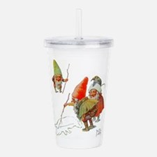 Gnomes Search for Pig Acrylic Double-wall Tumbler