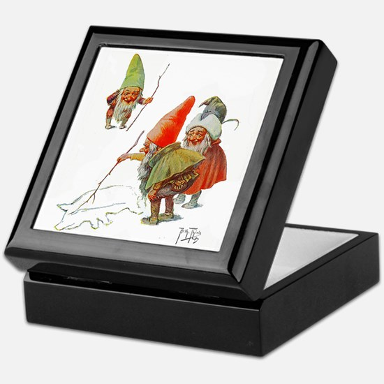 Gnomes Search for Pig in the Snow Keepsake Box