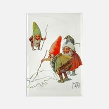 Gnomes Search for Pig in the Snow Rectangle Magnet