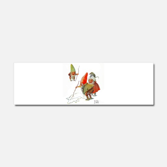 Gnomes Search for Pig in the Sno Car Magnet 10 x 3