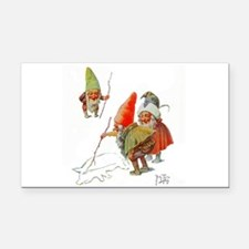 Gnomes Search for Pig in the Rectangle Car Magnet