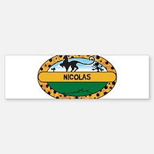 NICOLAS - safari Bumper Bumper Bumper Sticker
