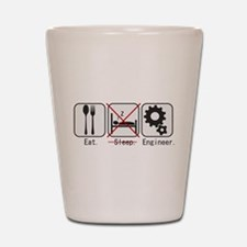 Funny Civil engineers Shot Glass