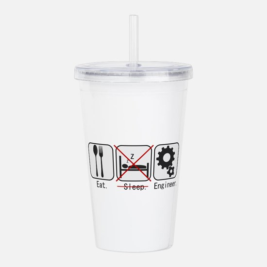 Cute Mechanical engineer Acrylic Double-wall Tumbler