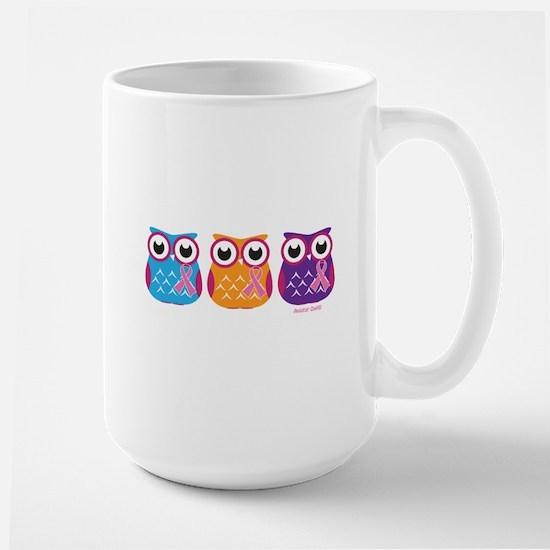 3 Ribboned Owls Mugs