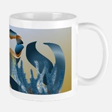 Blue and Gold Crab Mugs