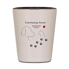 Veterinary Nurse-Paw Prints on My Heart Shot Glass