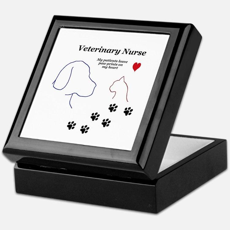 Veterinary Nurse-Paw Prints on My Hea Keepsake Box