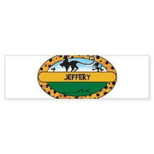 JEFFERY - safari Bumper Bumper Sticker