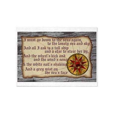 Harvest Moons Compass Rose 5u0027x7u0027Area Rug