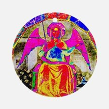 Angel Pink Round Ornament