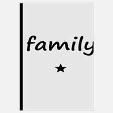 Black and Gray Family Design with Star