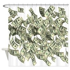Raining BIG MONEY Shower Curtain