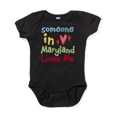 Funny Somebody in iowa loves me hometown Baby Bodysuit