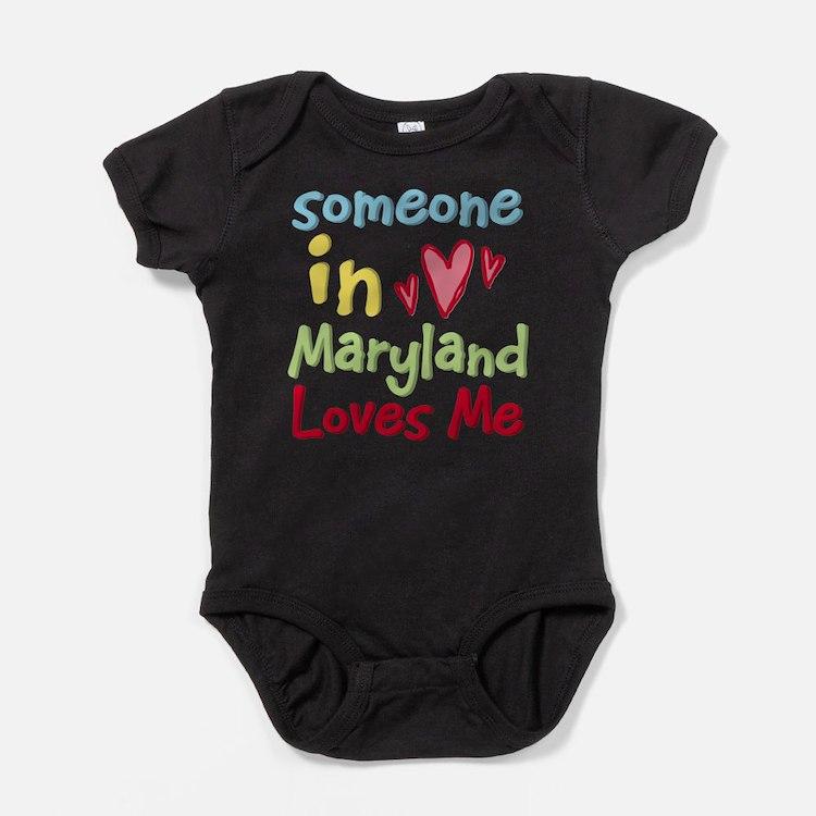 Cute Maryland Baby Bodysuit