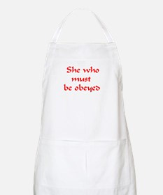 she must be obeyed Apron