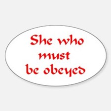 she must be obeyed Decal
