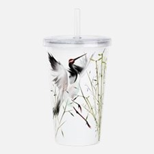 One Crane Trans.png Acrylic Double-wall Tumbler