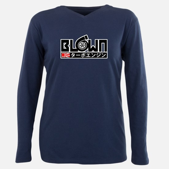 Blown - Turbo Engine Plus Size Long Sleeve Tee