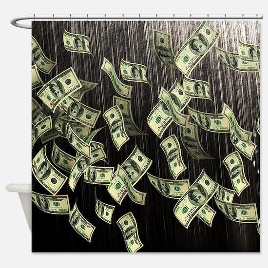 Raining Cash Money Shower Curtain