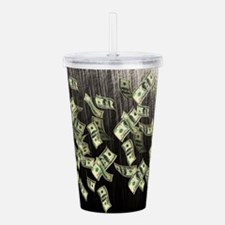 Raining Cash Money Acrylic Double-wall Tumbler