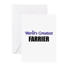 Worlds Greatest FARRIER Greeting Cards (Pk of 10)