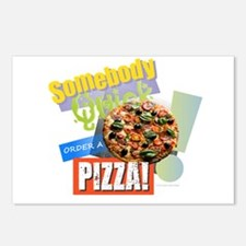 Somebody Order a Pizza Postcards (Package of 8)