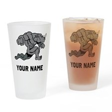 Rhino Running Drinking Glass
