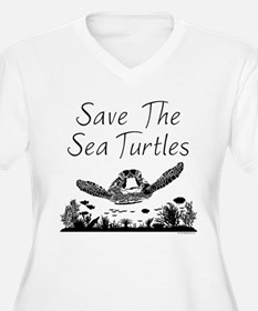 Save The Sea Turtles Plus Size T-Shirt