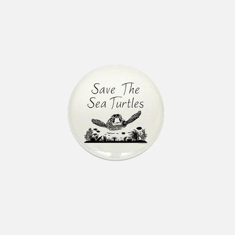 Save The Sea Turtles Mini Button