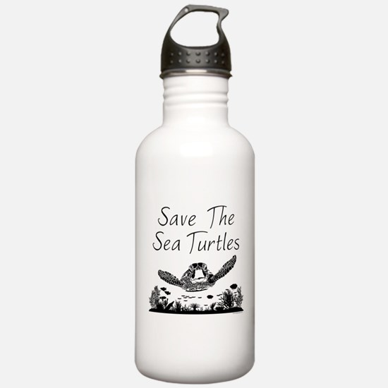 Save The Sea Turtles Water Bottle