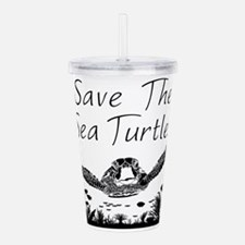Save The Sea Turtles Acrylic Double-wall Tumbler