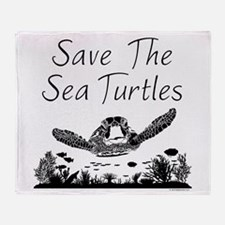Save The Sea Turtles Throw Blanket