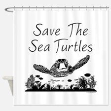 Save The Sea Turtles Shower Curtain