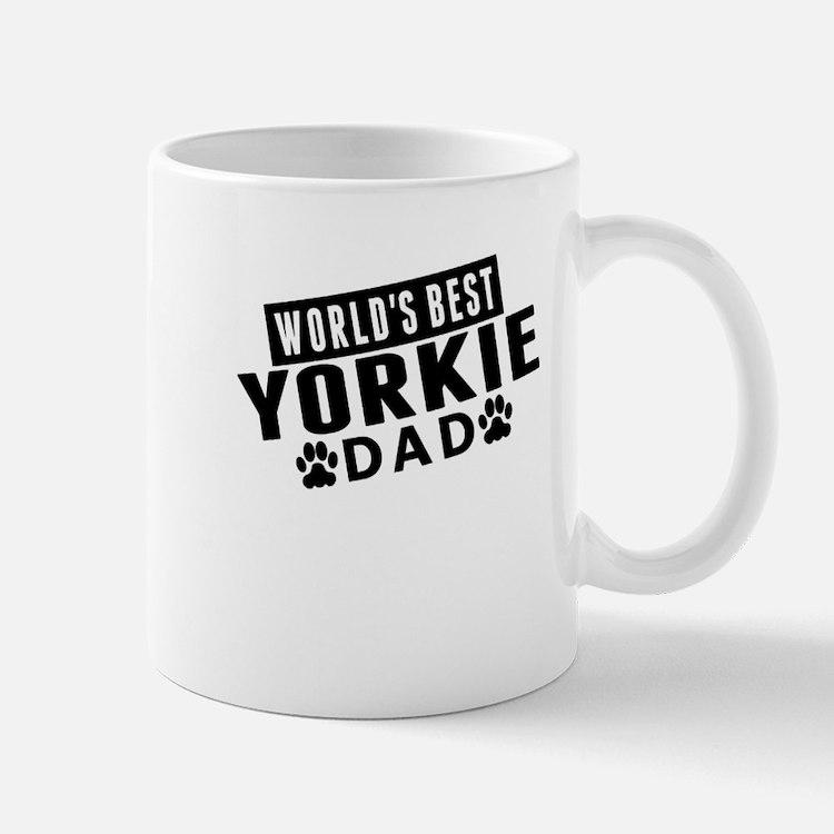 Worlds Best Yorkie Dad Mugs