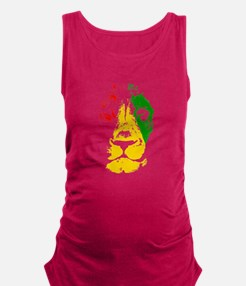 Reggae Rasta Lion Maternity Tank Top