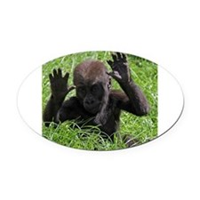Gorilla20151002 Oval Car Magnet