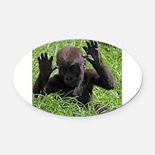 Gorilla20151002 Oval Car Magnet