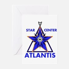 Star Center Atlantis Greeting Cards