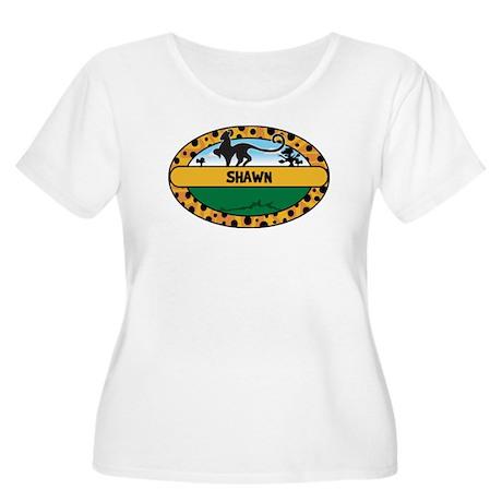 SHAWN - safari Women's Plus Size Scoop Neck T-Shir