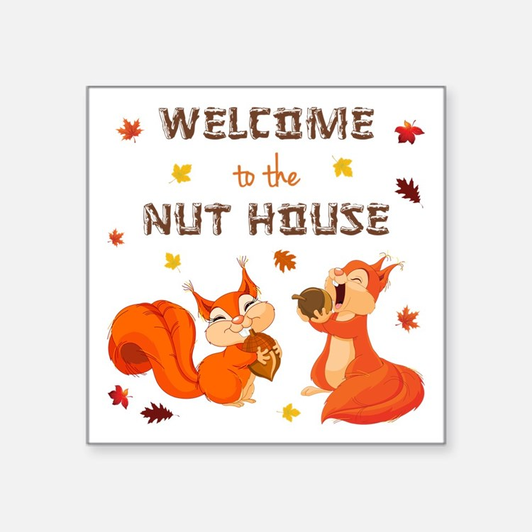 """WELCOME TO... Square Sticker 3"""" x 3"""""""